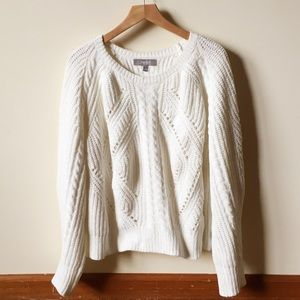 Marled off white sweater size large